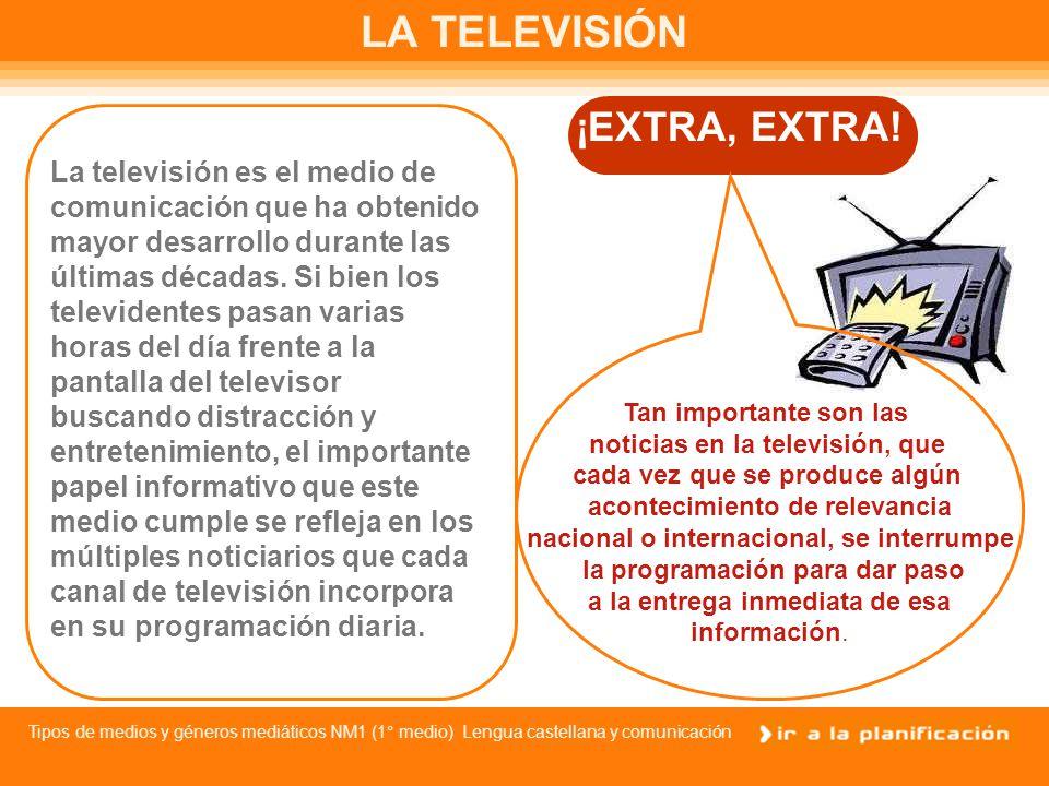 LA TELEVISIÓN ¡EXTRA, EXTRA!