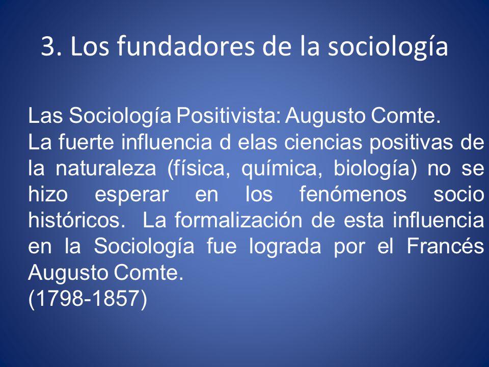 3. Los fundadores de la sociología