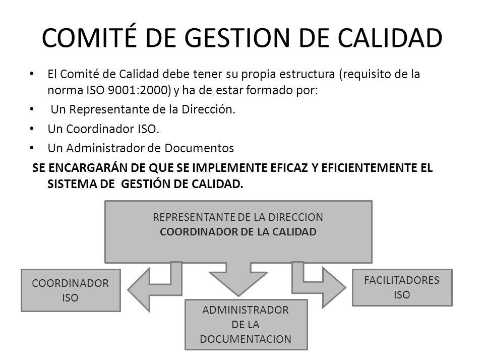 COMITÉ DE GESTION DE CALIDAD