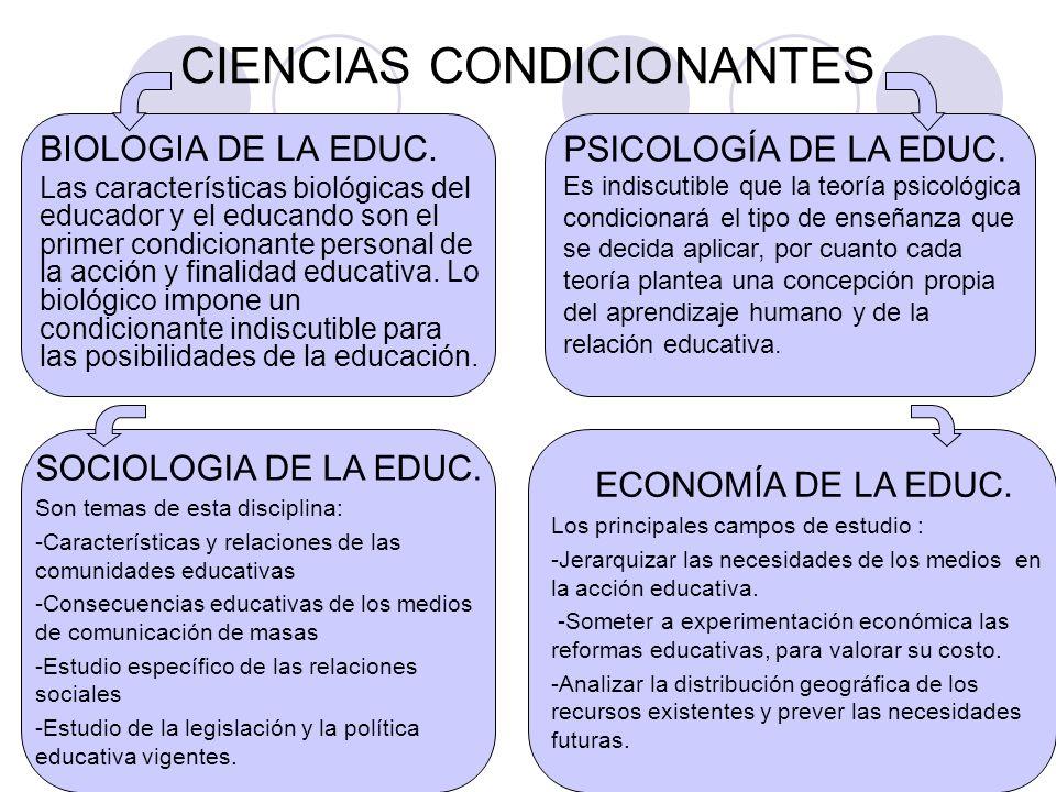 Ciencias de la educaci n ppt descargar for La accion educativa en el exterior