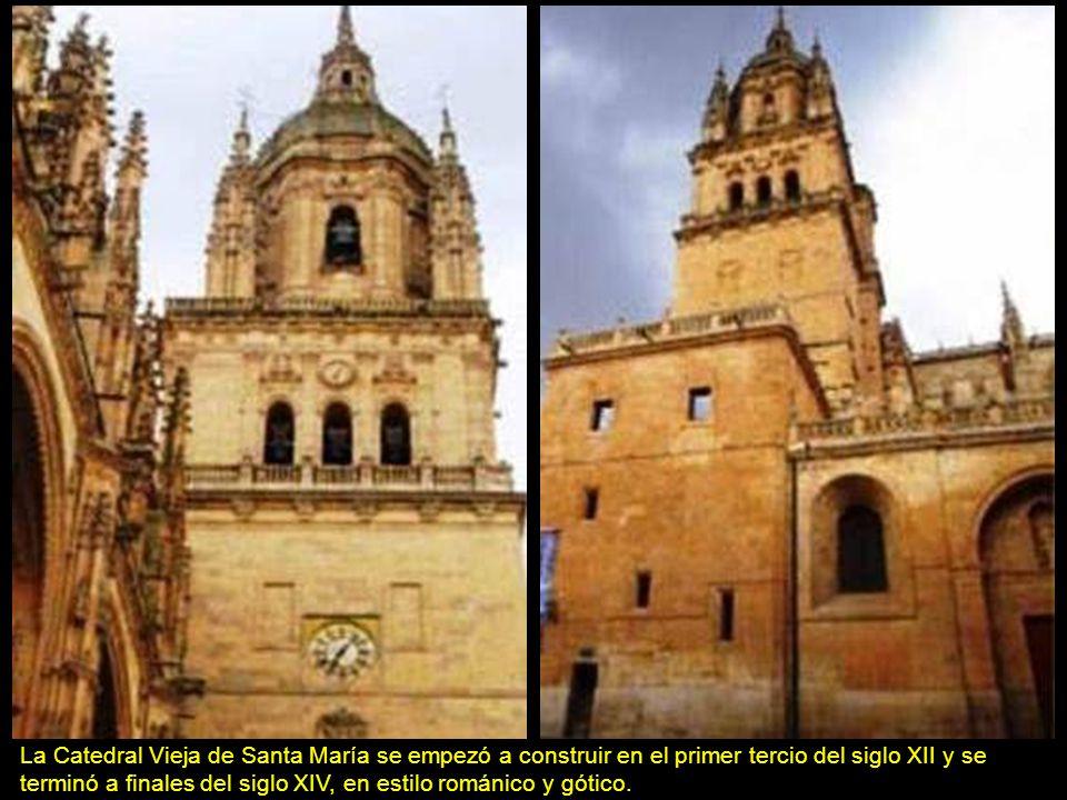 La Catedral Vieja de Santa María se empezó a construir en el primer tercio del siglo XII y se terminó a finales del siglo XIV, en estilo románico y gótico.