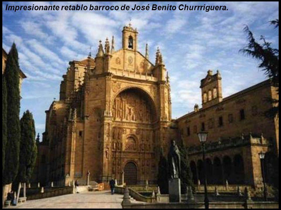 Impresionante retablo barroco de José Benito Churrriguera.