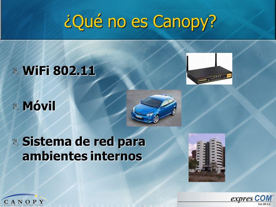 ¿Qué no es Canopy WiFi 802.11 Móvil & Canopy: La solución para la transmisión inalámbrica de video y ...