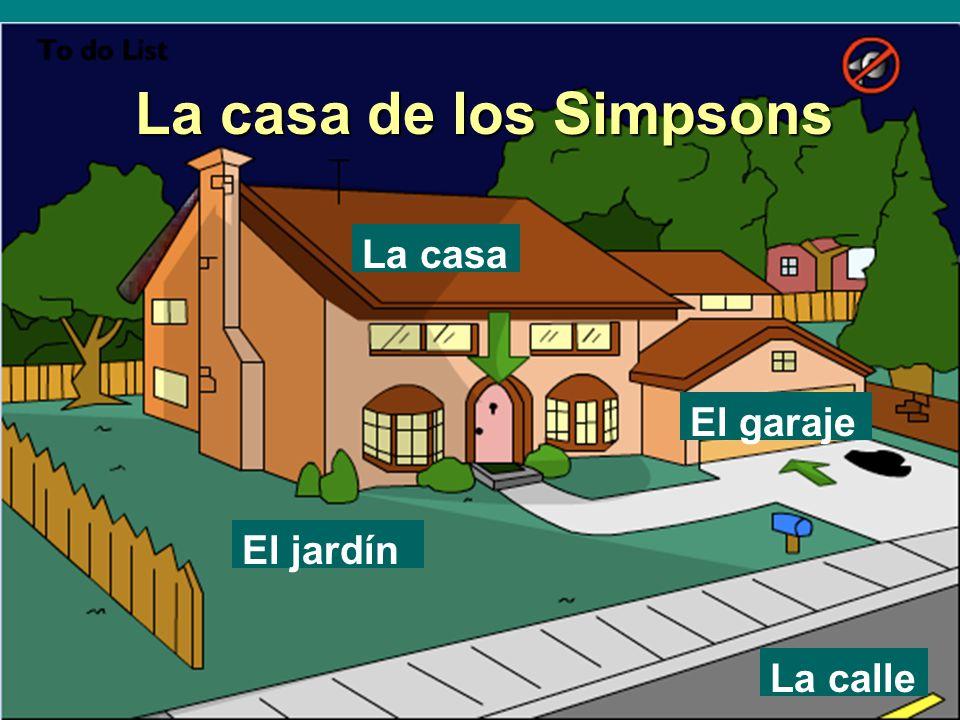 La casa de los simpsons la casa el garaje el jard n la for El jardin online