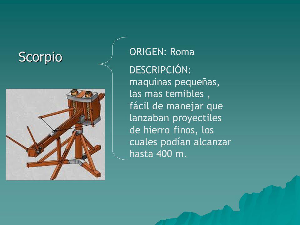 Scorpio ORIGEN: Roma.