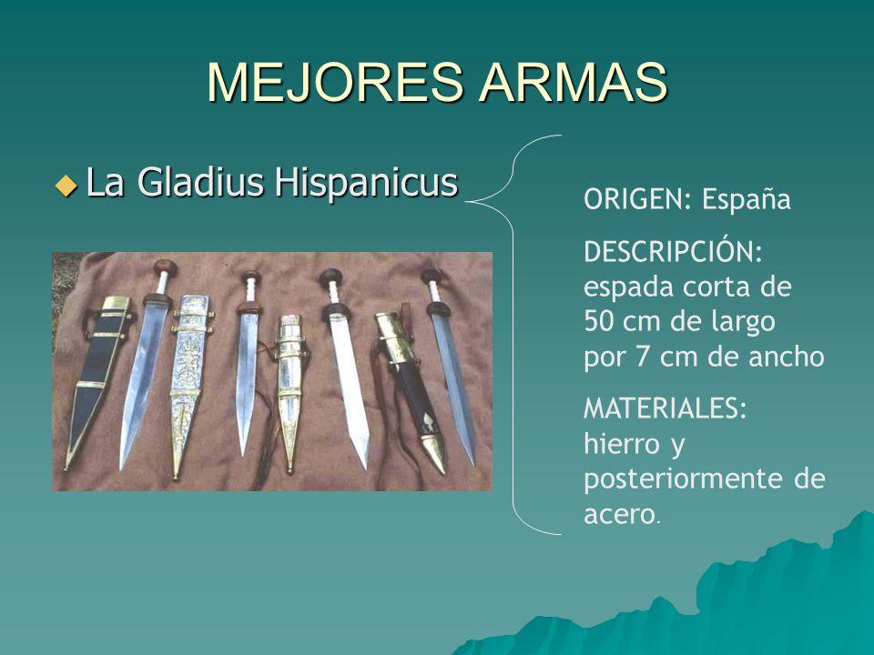MEJORES ARMAS La Gladius Hispanicus ORIGEN: España