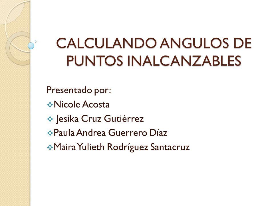 CALCULANDO ANGULOS DE PUNTOS INALCANZABLES
