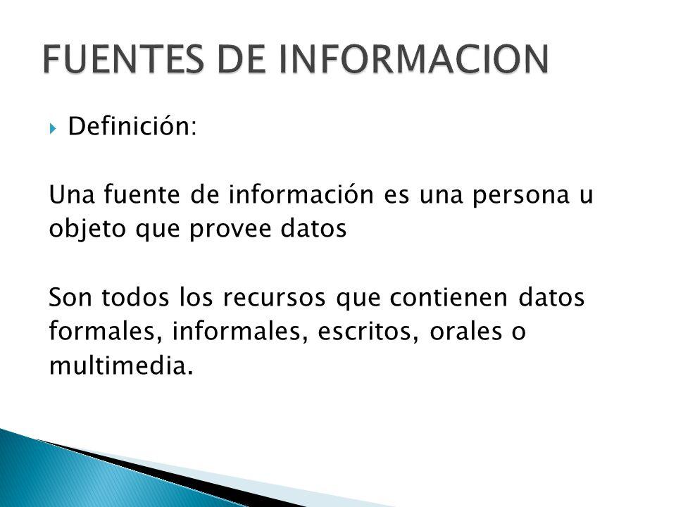Fuentes de informaci n ppt descargar - Definicion de multimedia ...