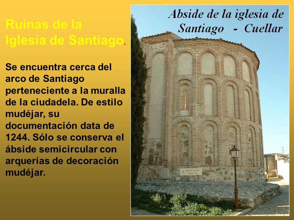 Ruinas de la Iglesia de Santiago.