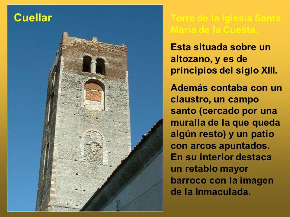 Cuellar Torre de la Iglesia Santa María de la Cuesta.