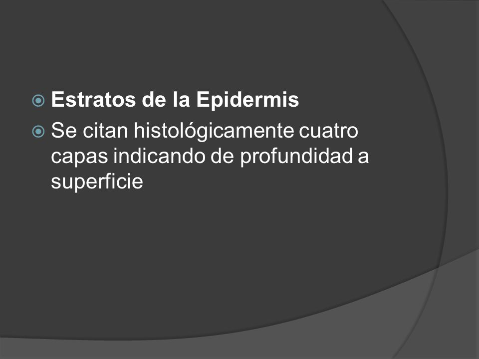 Estratos de la Epidermis