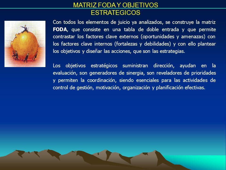 MATRIZ FODA Y OBJETIVOS ESTRATEGICOS