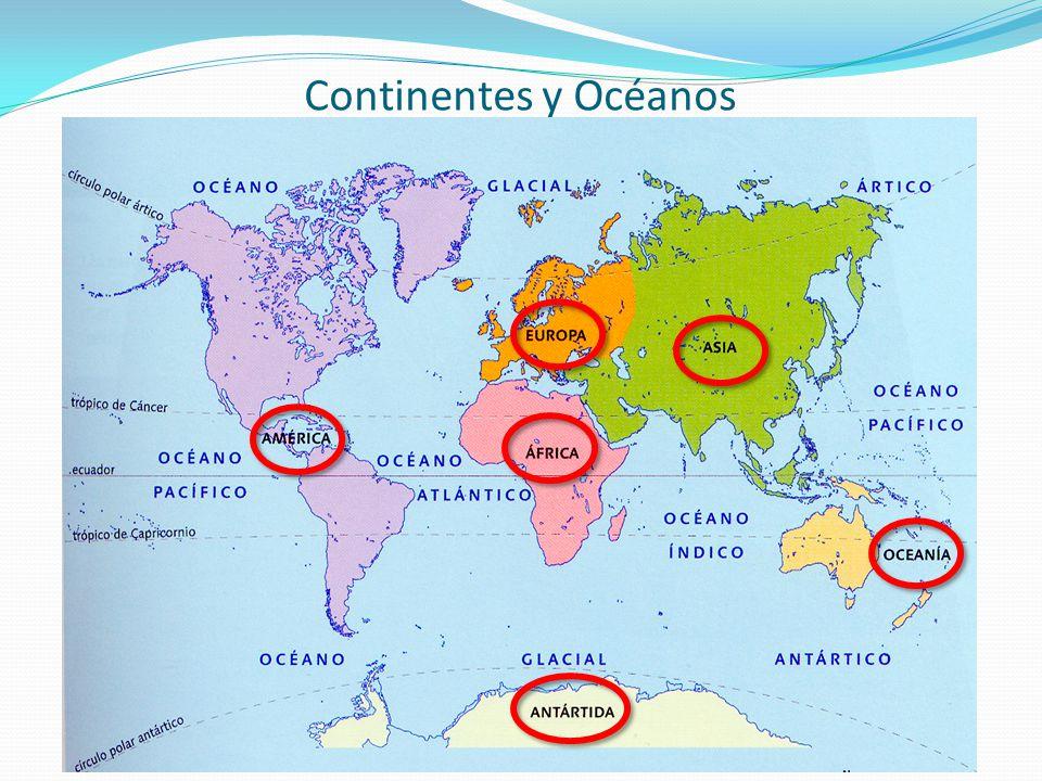 Cuales Son Los 6 Continentes Del Planisferio: 1.-LOS CONTINENTES 2.- EL RELIEVE