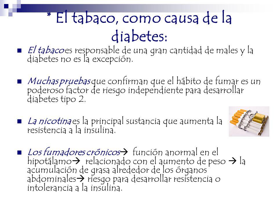 La diabetes y las adicciones - ppt descargar