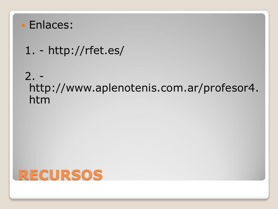 RECURSOS Enlaces: 1. - http://rfet.es/