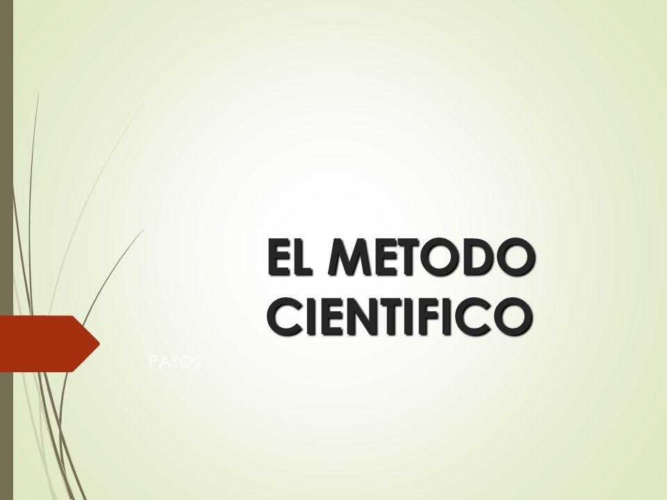 EL METODO CIENTIFICO PASOS