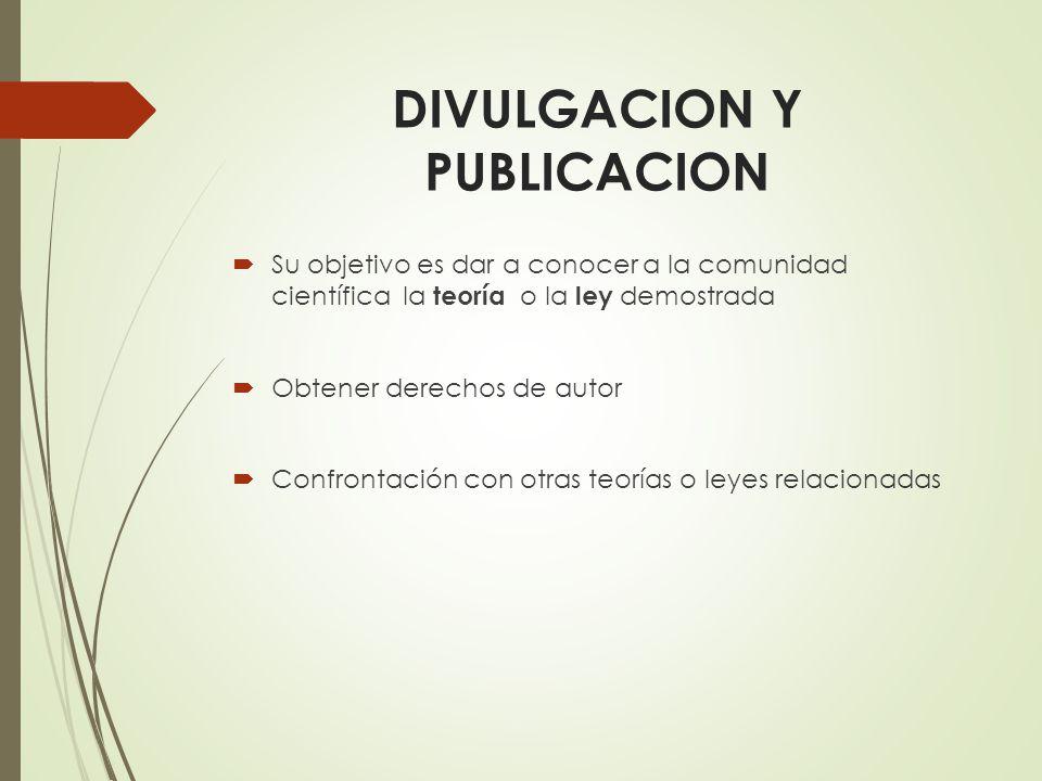 DIVULGACION Y PUBLICACION