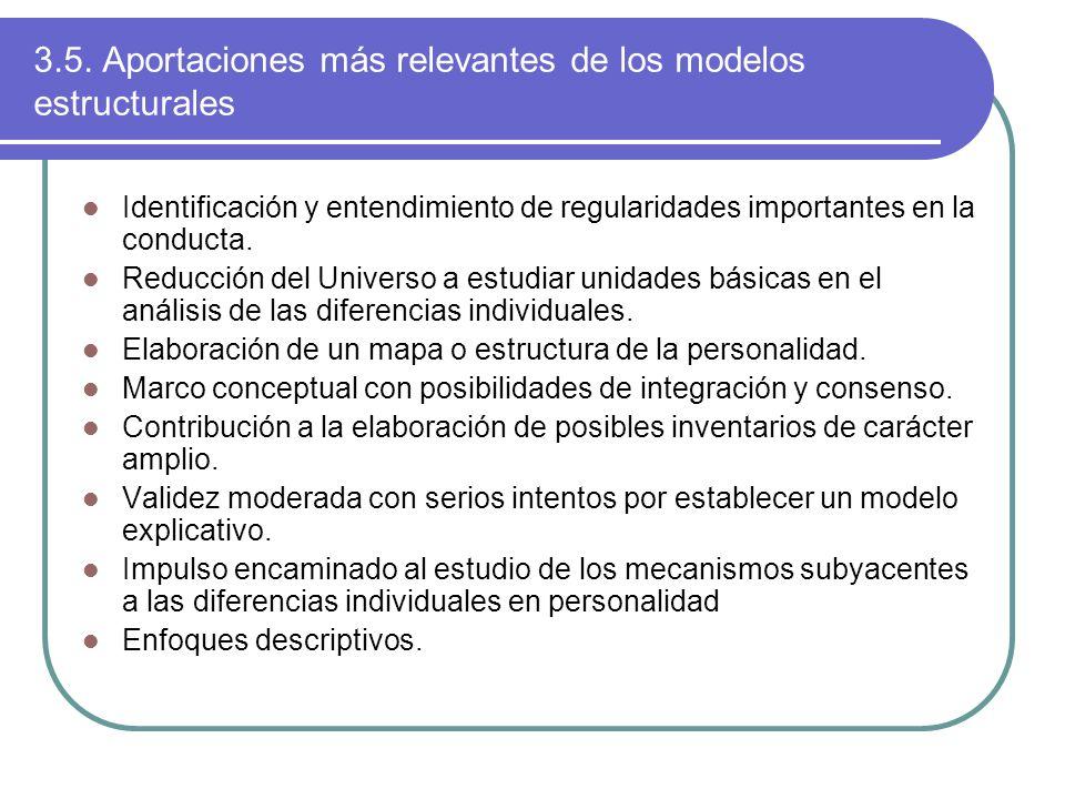 3.5. Aportaciones más relevantes de los modelos estructurales