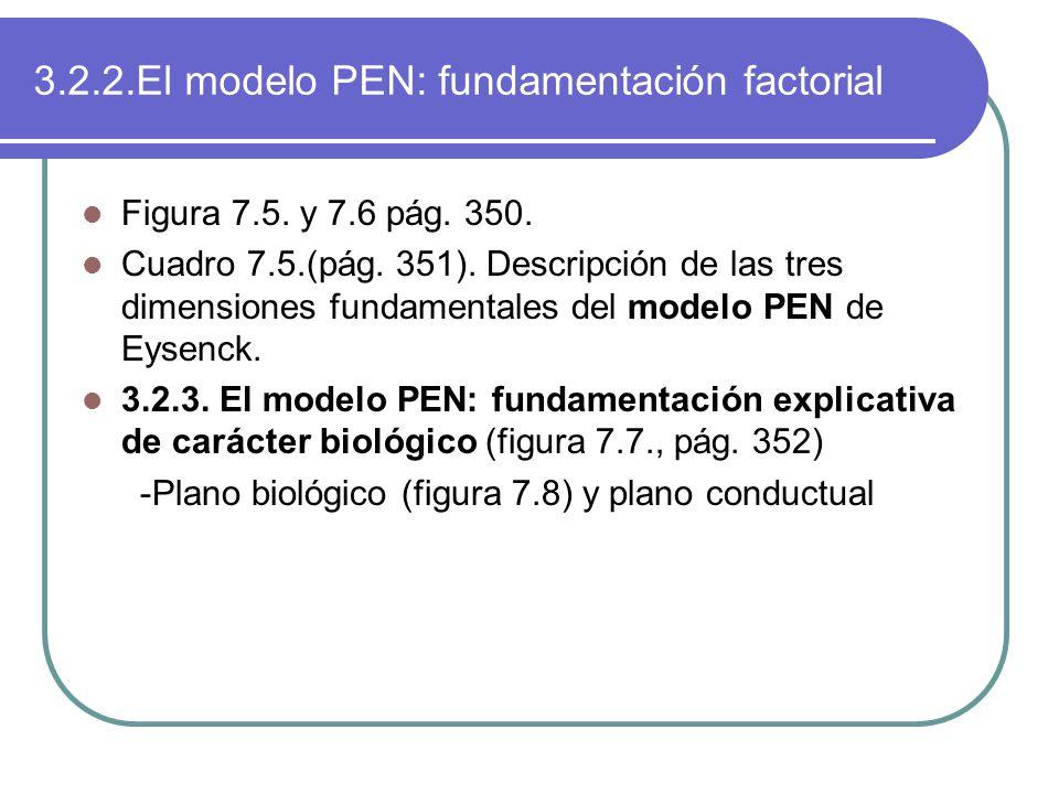 3.2.2.El modelo PEN: fundamentación factorial