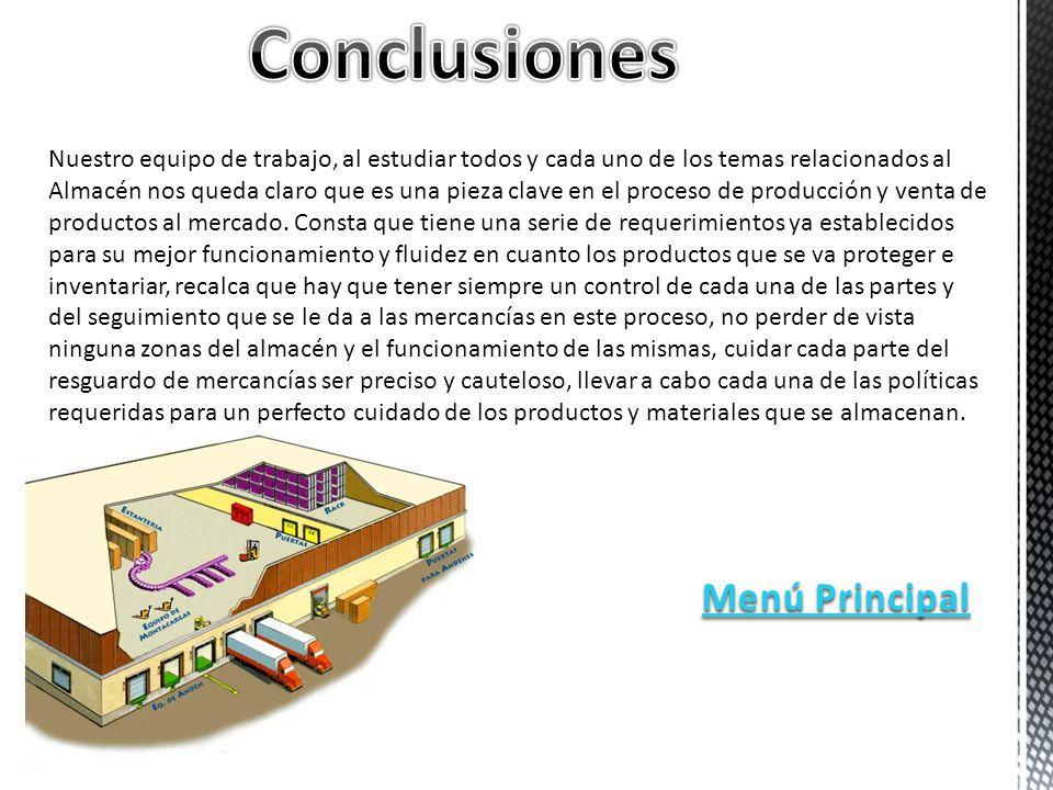 Conclusiones Menú Principal