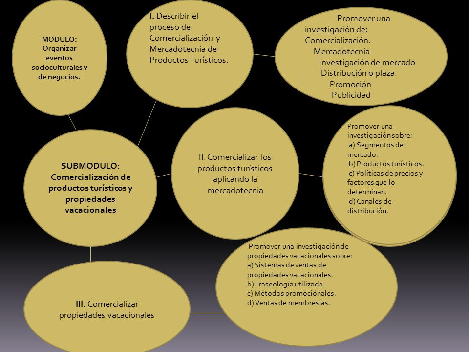 I. Describir el proceso de Comercialización y Mercadotecnia de