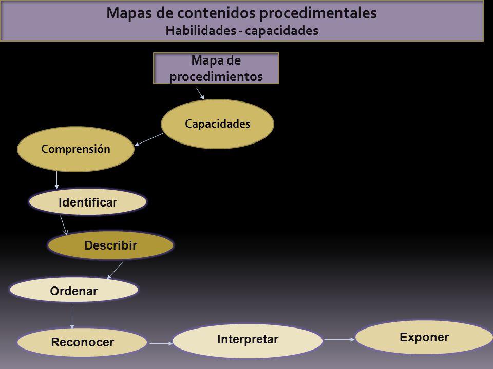 Mapas de contenidos procedimentales Mapa de procedimientos