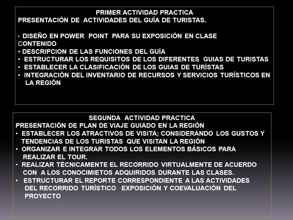 PRIMER ACTIVIDAD PRACTICA SEGUNDA ACTIVIDAD PRACTICA