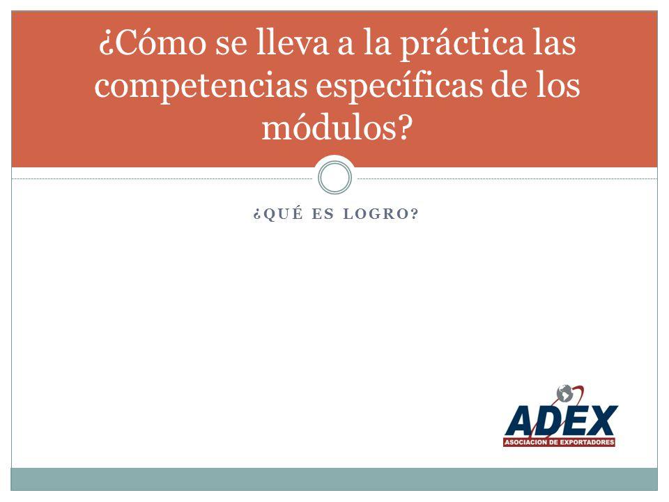¿Cómo se lleva a la práctica las competencias específicas de los módulos