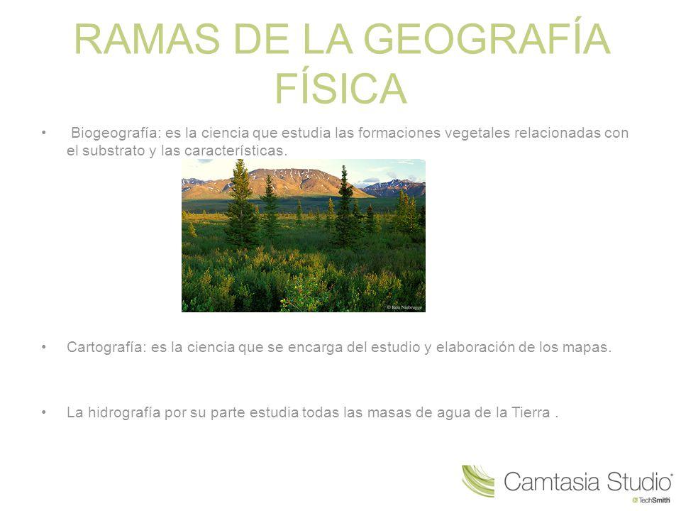 RAMAS DE LA GEOGRAFÍA FÍSICA