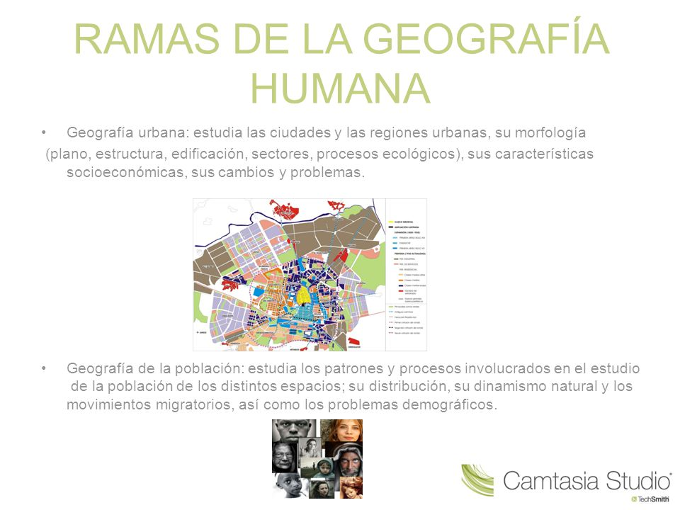 RAMAS DE LA GEOGRAFÍA HUMANA