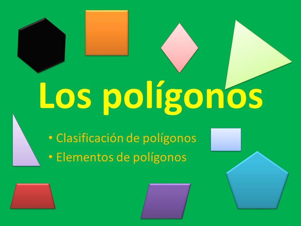 Clasificación de polígonos Elementos de polígonos