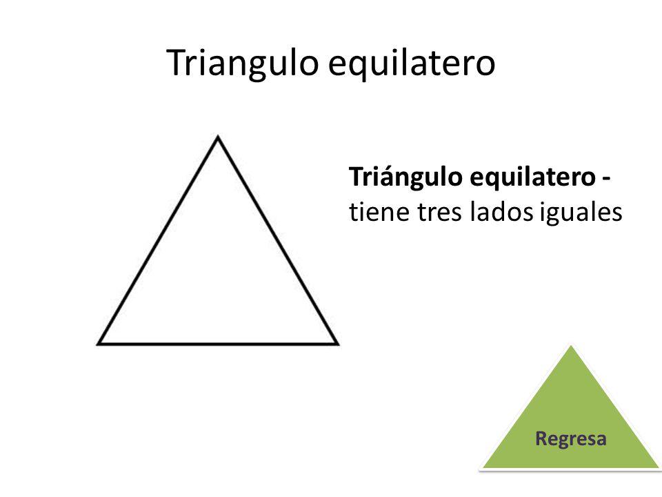 Triangulo equilatero Triángulo equilatero - tiene tres lados iguales
