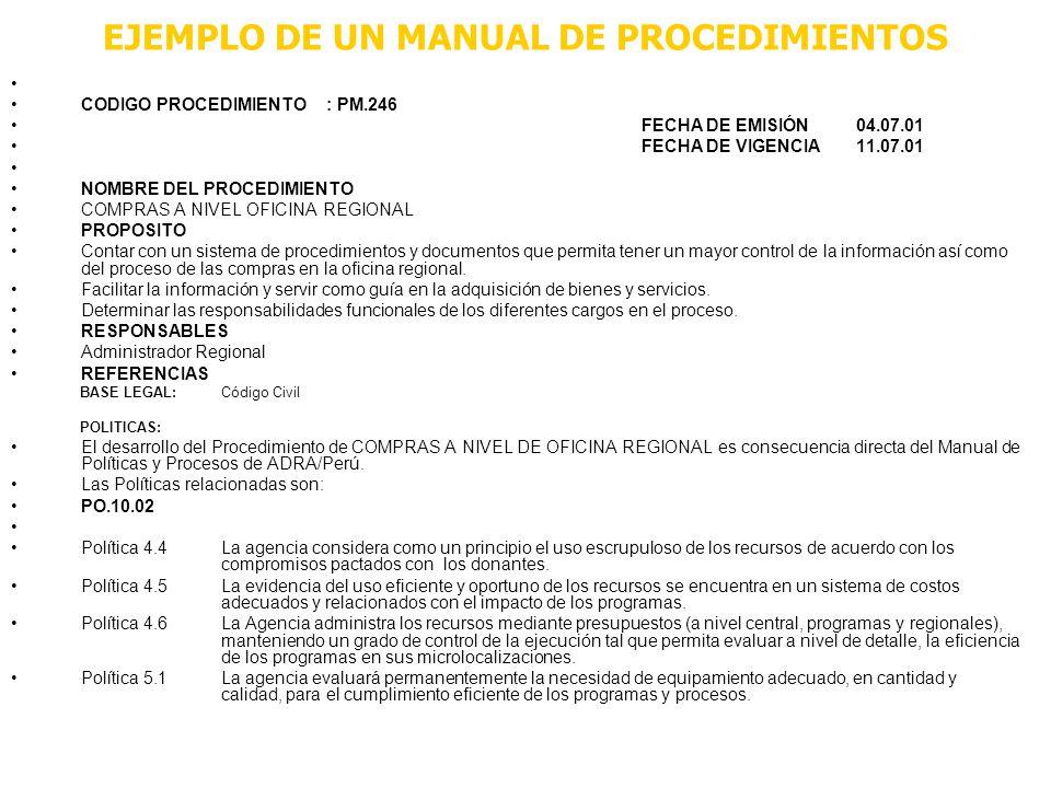 Modulo v modulo v la planificacion planeamiento es for Ejemplo de manual de procedimientos de un restaurante