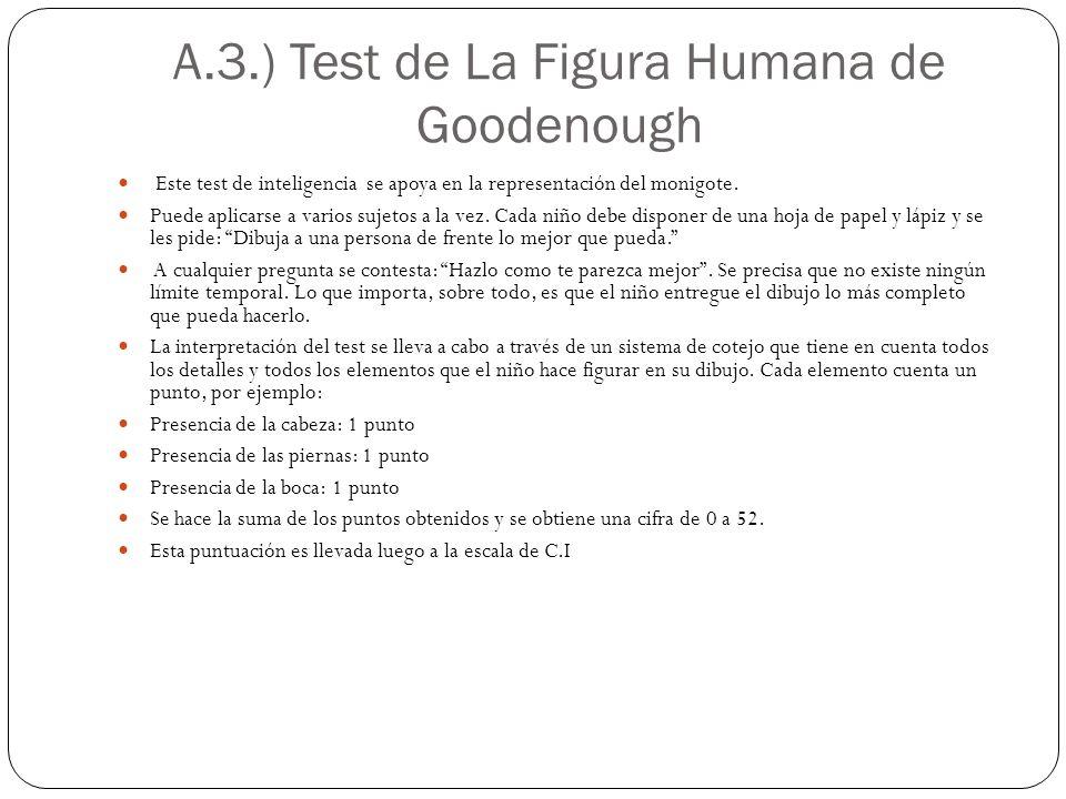 A.3.) Test de La Figura Humana de Goodenough