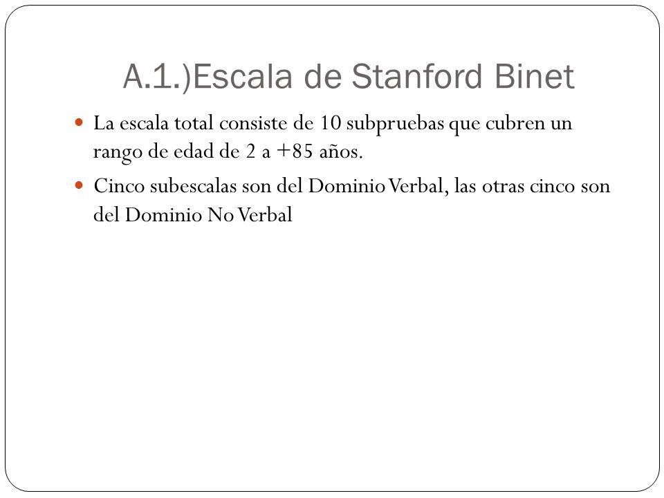 A.1.)Escala de Stanford Binet