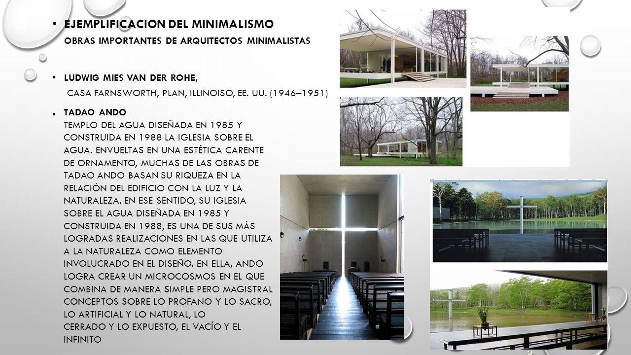 Menos es mas arquitecto ludwig mies van der rohe ppt for Casa minimalista concepto