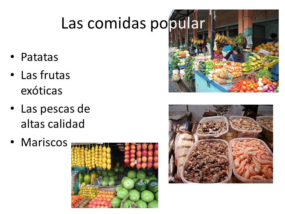 Las comidas popular Patatas Las frutas exóticas