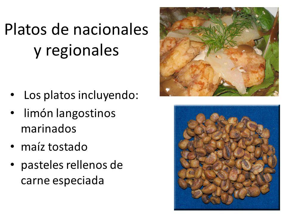 Platos de nacionales y regionales