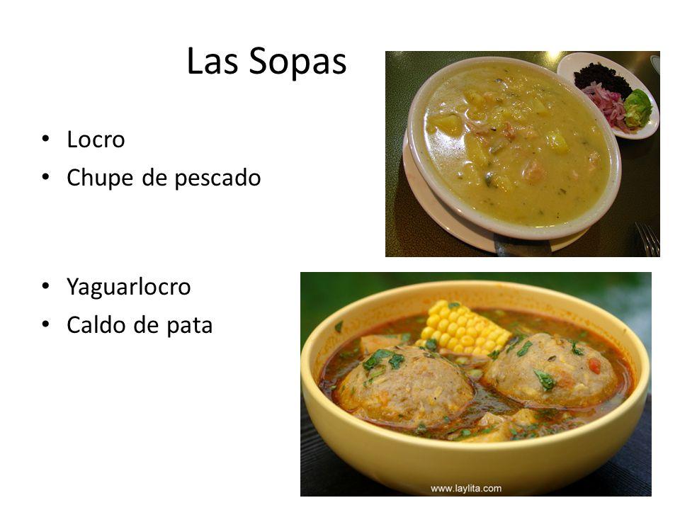Las Sopas Locro Chupe de pescado Yaguarlocro Caldo de pata
