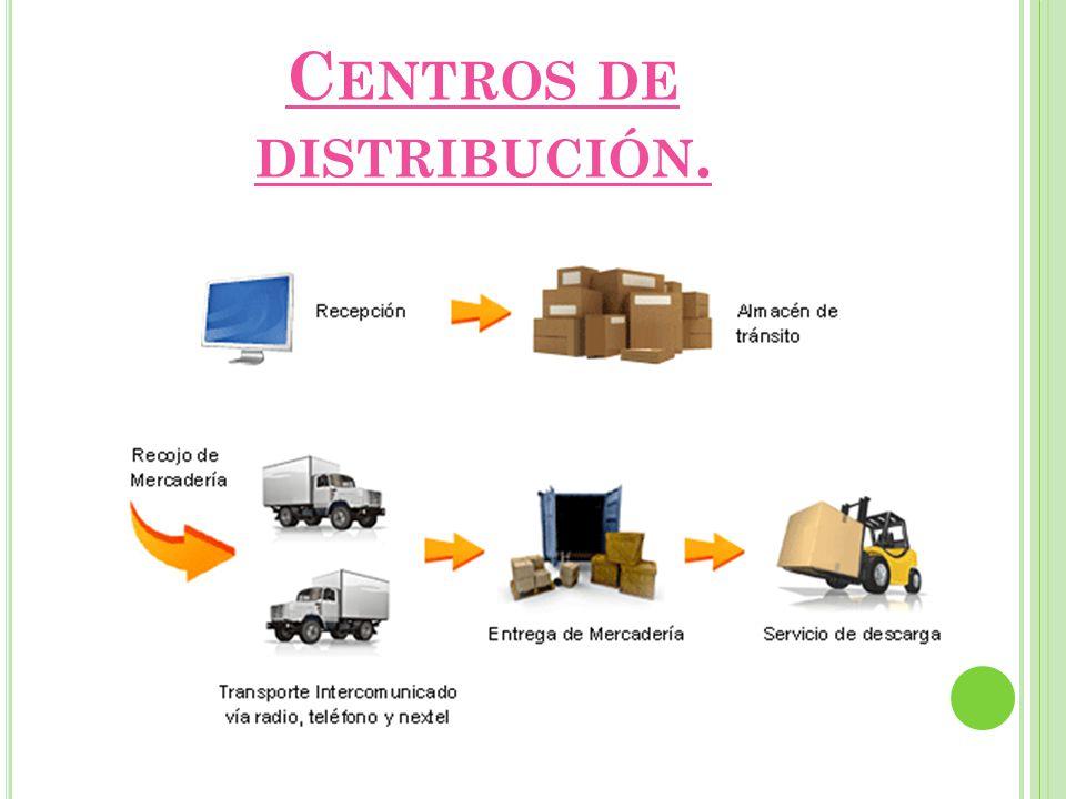 Centros de distribución.