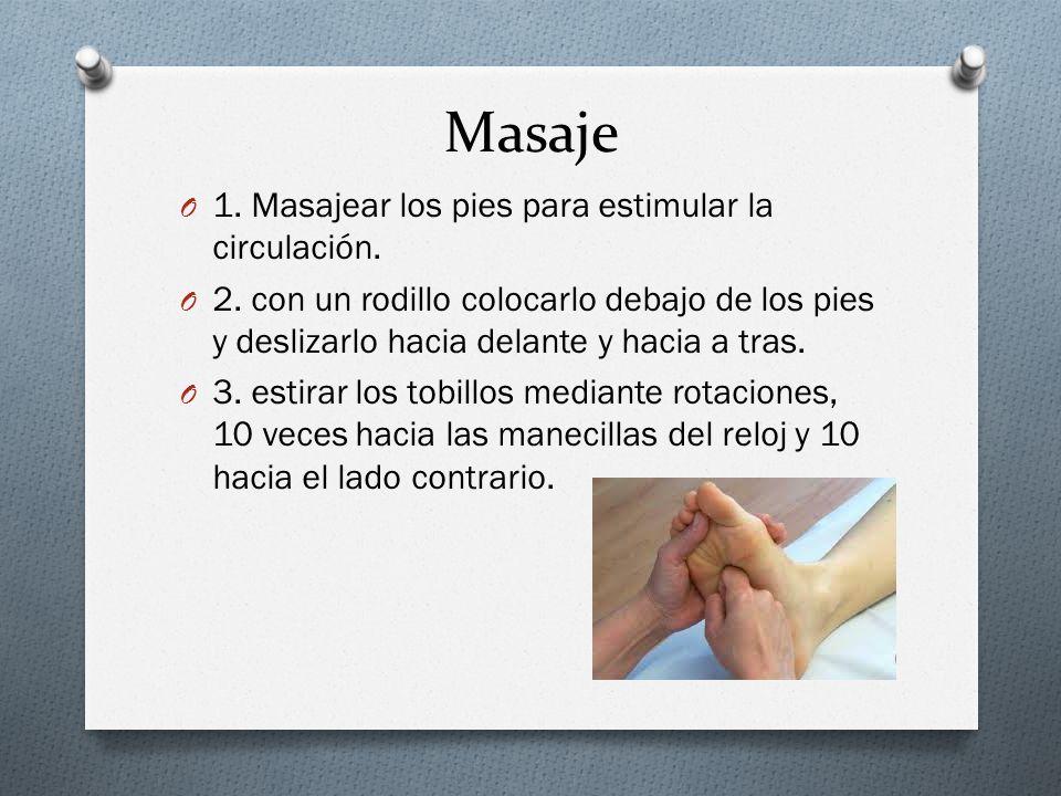 Masaje 1. Masajear los pies para estimular la circulación.