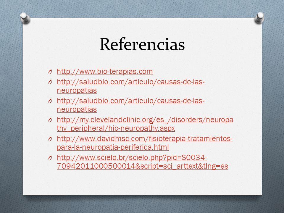 Referencias http://www.bio-terapias.com