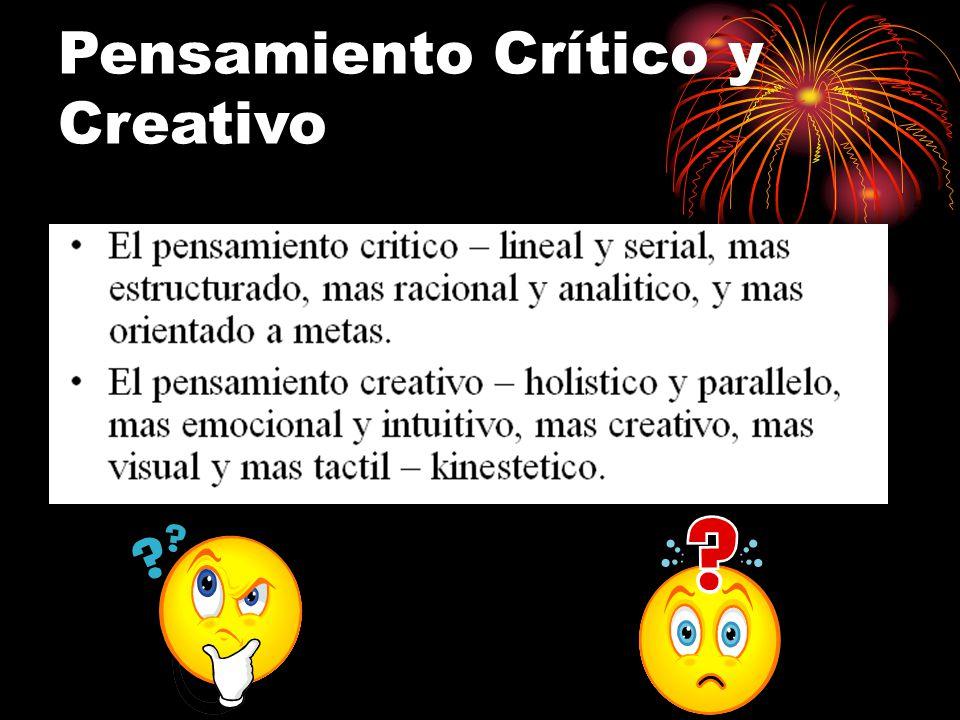 Pensamiento Crítico y Creativo