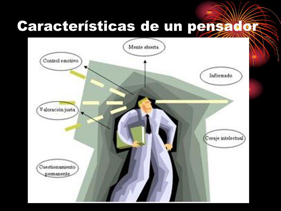 Características de un pensador