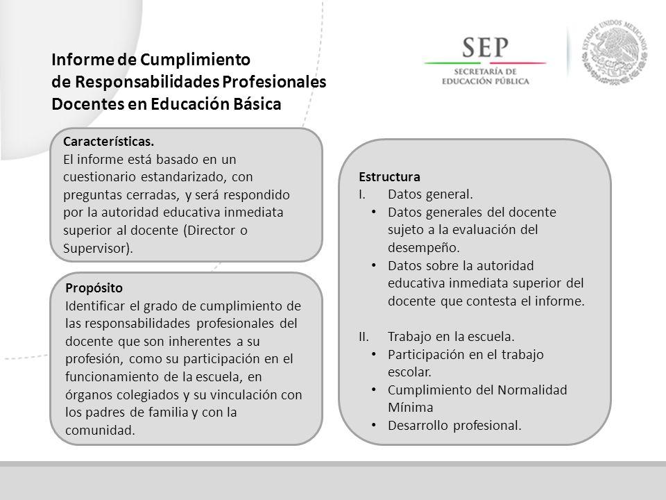Informe de Cumplimiento de Responsabilidades Profesionales