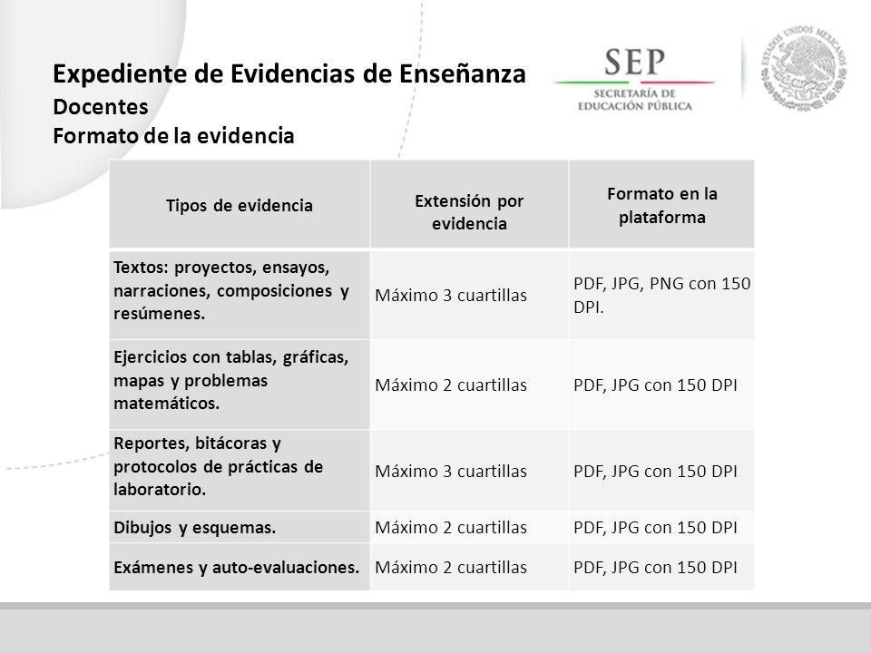Extensión por evidencia Formato en la plataforma