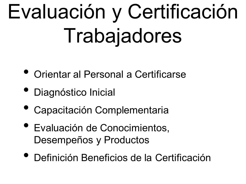 Evaluación y Certificación Trabajadores