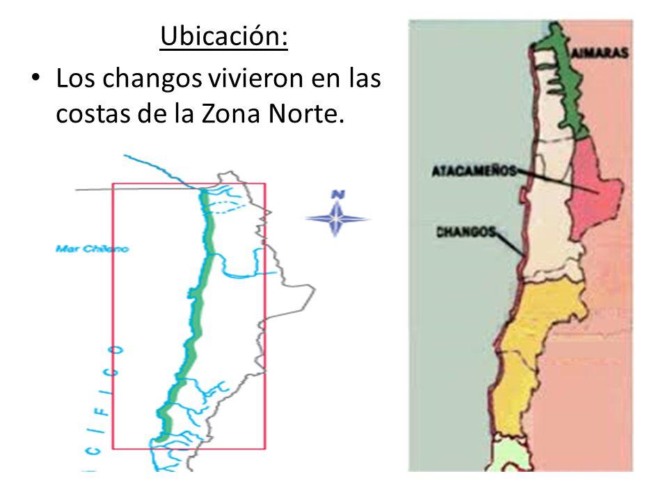 Ubicación: Los changos vivieron en las costas de la Zona Norte.
