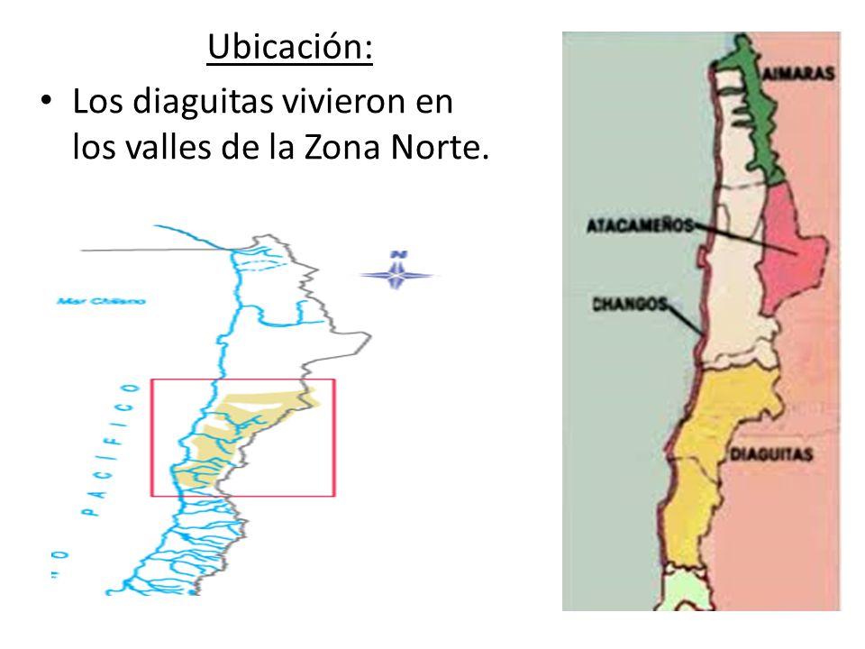 Ubicación: Los diaguitas vivieron en los valles de la Zona Norte.