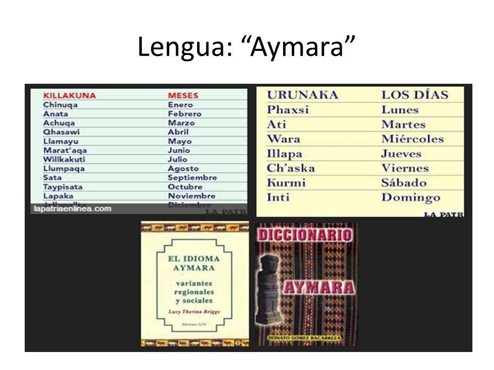 Lengua: Aymara